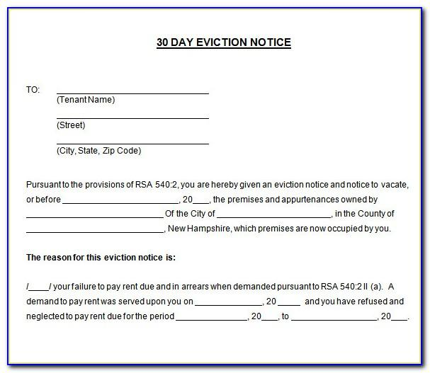 Tenant Eviction Notice Template Word