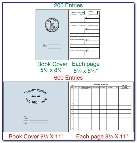 Texas Notary Journal Template