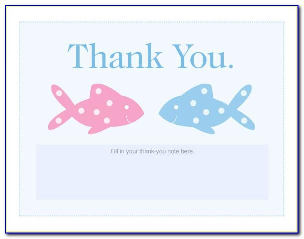 Thank You Card Template For Baby Shower Gift