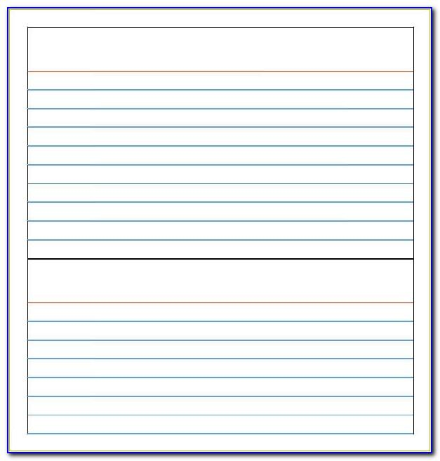 Thank You Note Card Template Free