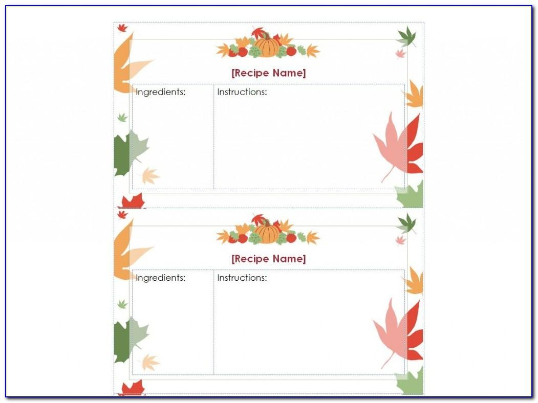 Thanksgiving Place Card Template Free Download