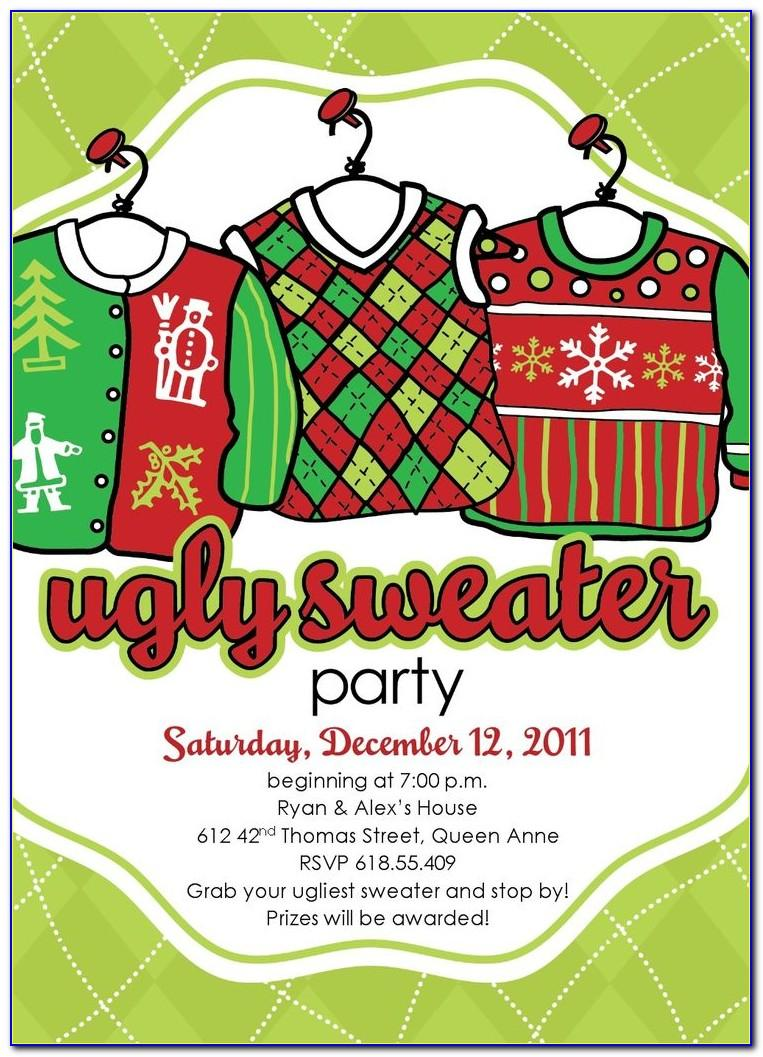 Ugly Christmas Sweater Invite Template
