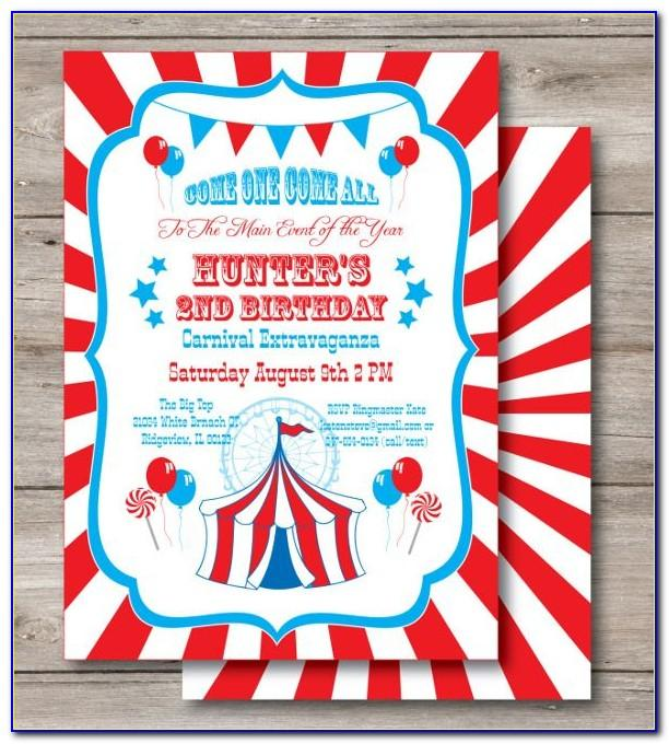 Vintage Circus Invitation Template Free