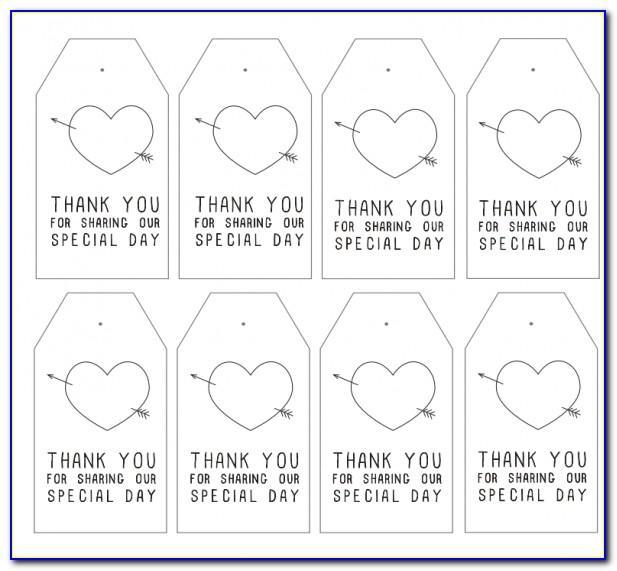 Wedding Favor Sticker Templates