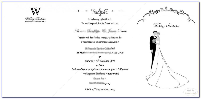 Wedding Invitation Insert Card Template