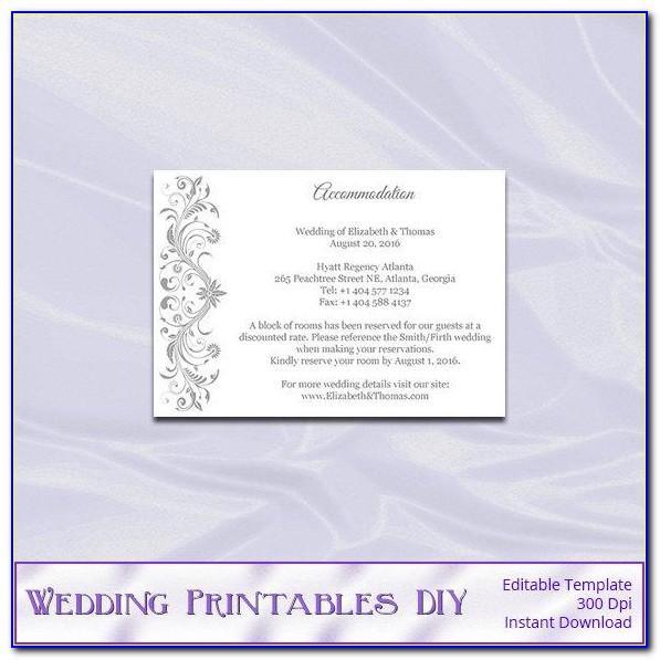 Wedding Invitation Insert Templates Free Download