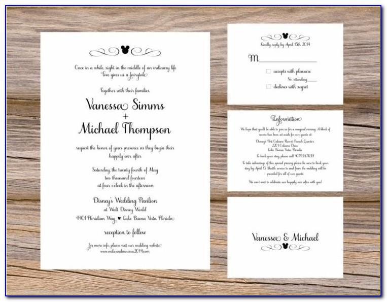 Wedding Invitation Registry Inserts Templates