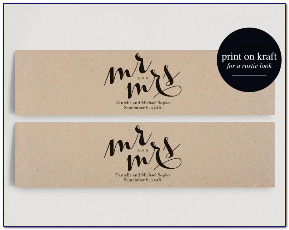 Wedding Label Format