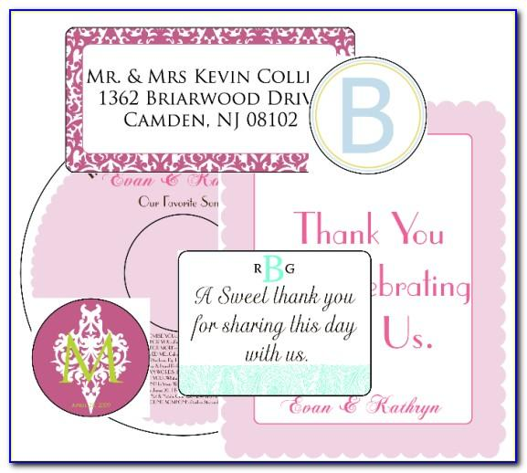 Wedding Label Templates For Favors