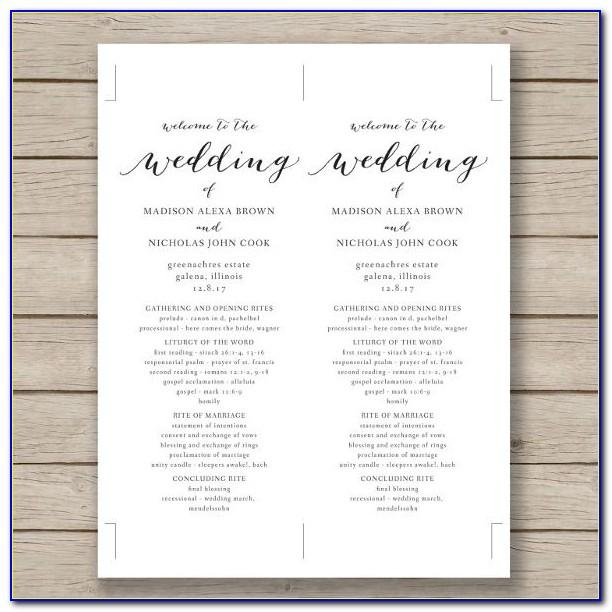 Wedding Program Template Download Free