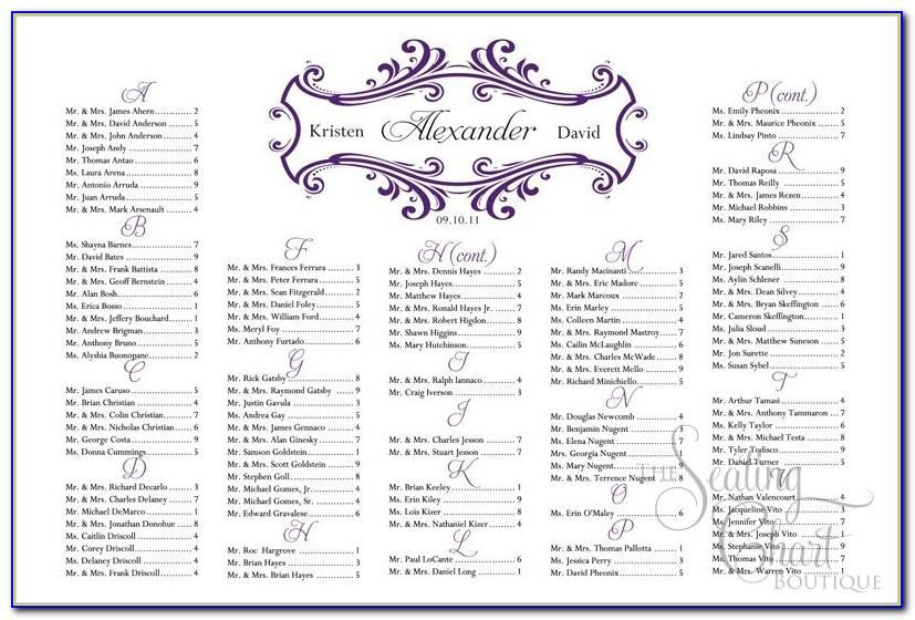 Wedding Seating Chart Template Word 10 Per Table