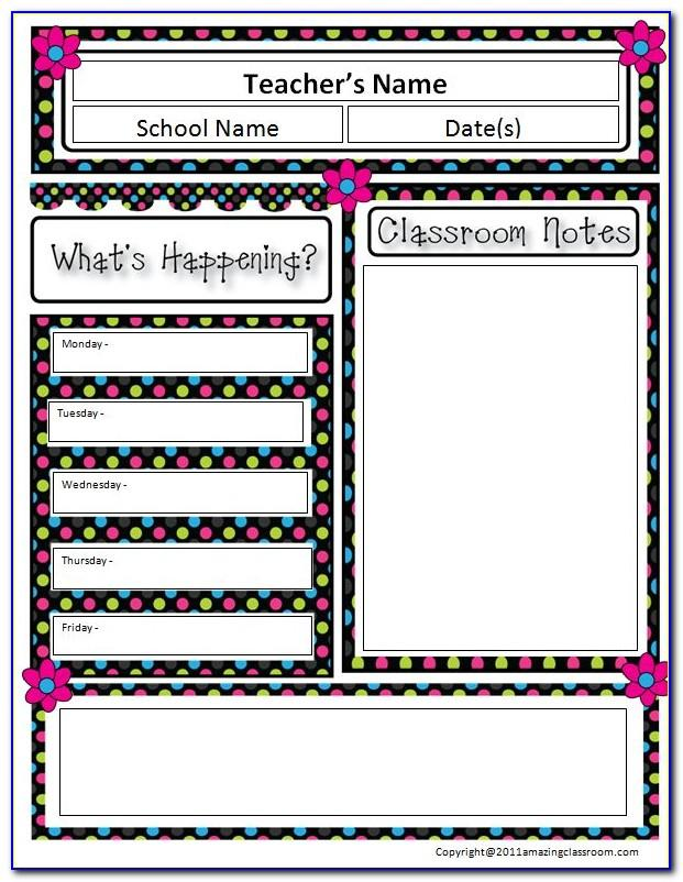 Weekly School Newsletter Templates Free