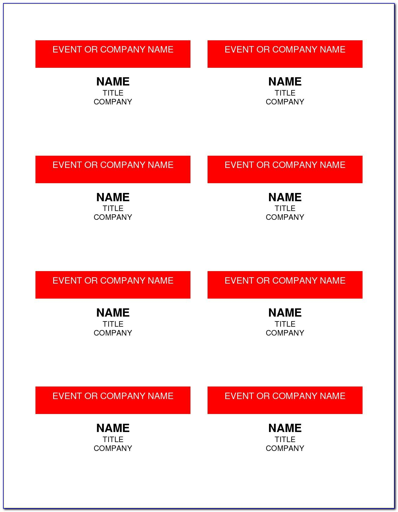 Word Id Badge Template Download