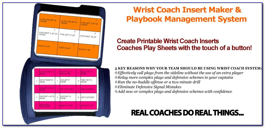 Wrist Coach Template Excel