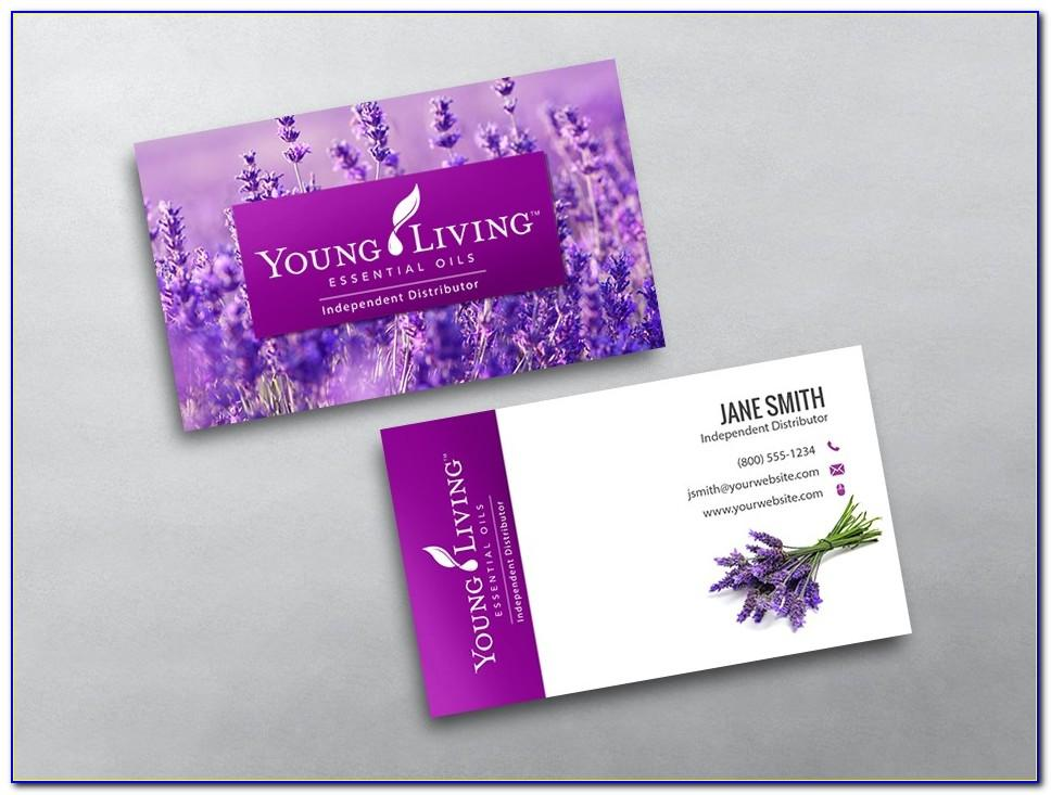 Young Living Business Card Template Free