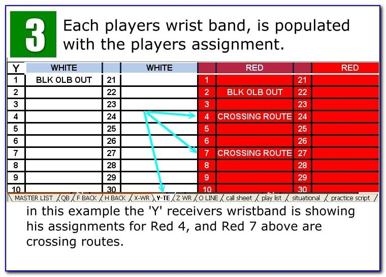 Youth Football Wristband Template