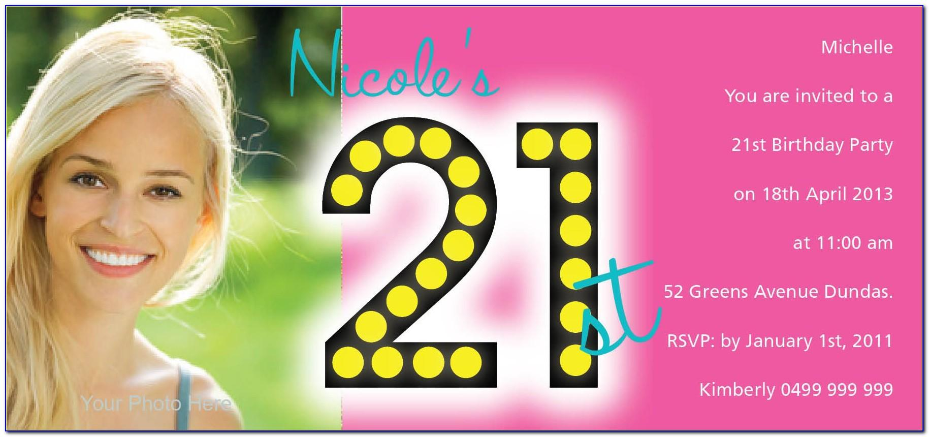 21st Birthday Invitation Templates Free Online