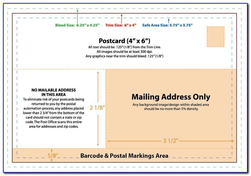 4x6 Postcard Mailer Template