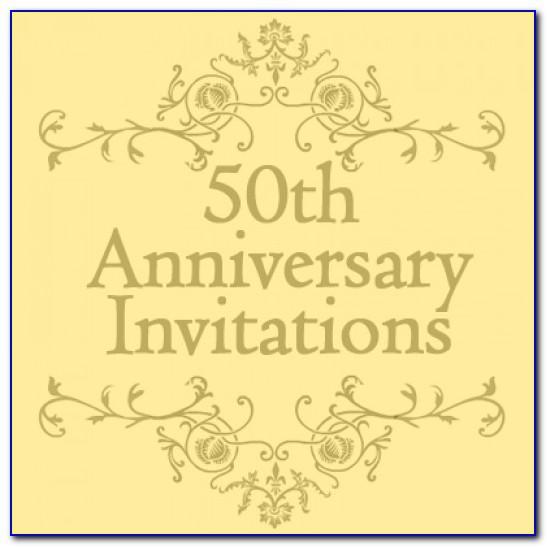50 Year Anniversary Invitations Templates