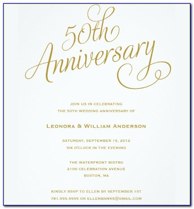 50th Anniversary Announcement Template