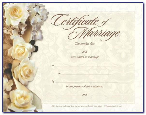 50th Wedding Anniversary Certificate Template