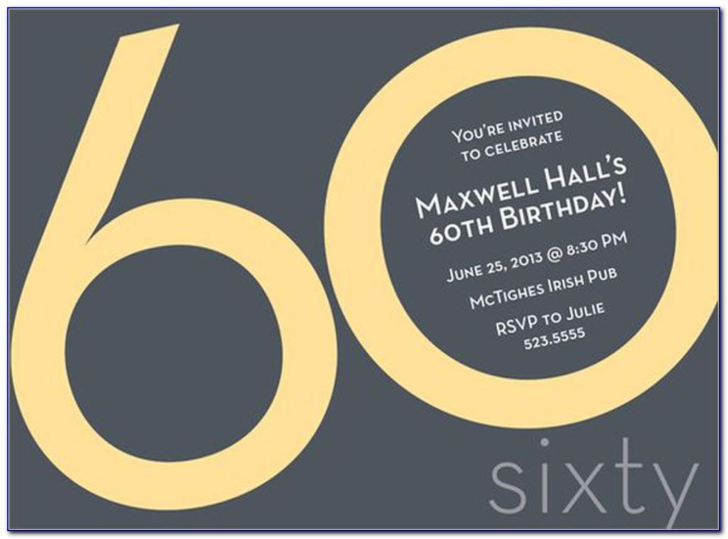 60th Birthday Invitation Wordings Samples