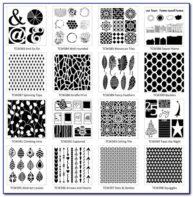 6x6 Crafters Workshop Templates