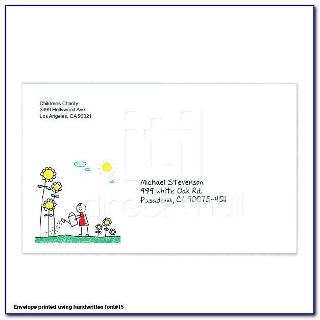 6x9 Envelope Template Free