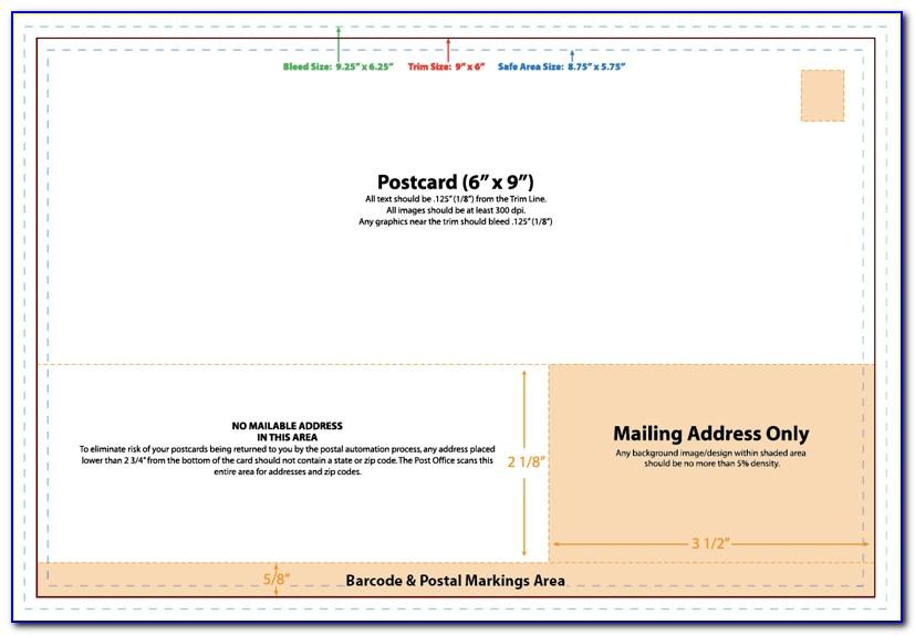 8.5 X 5.5 Postcard Mailing Template