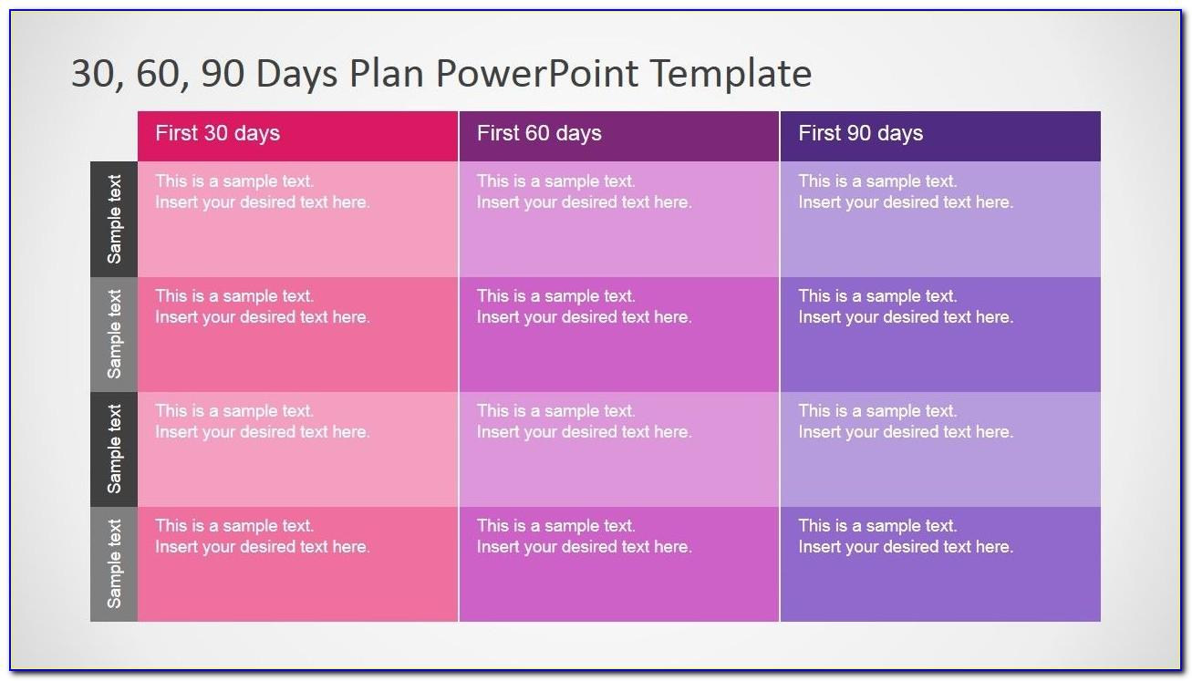 90 Day Business Plan Format