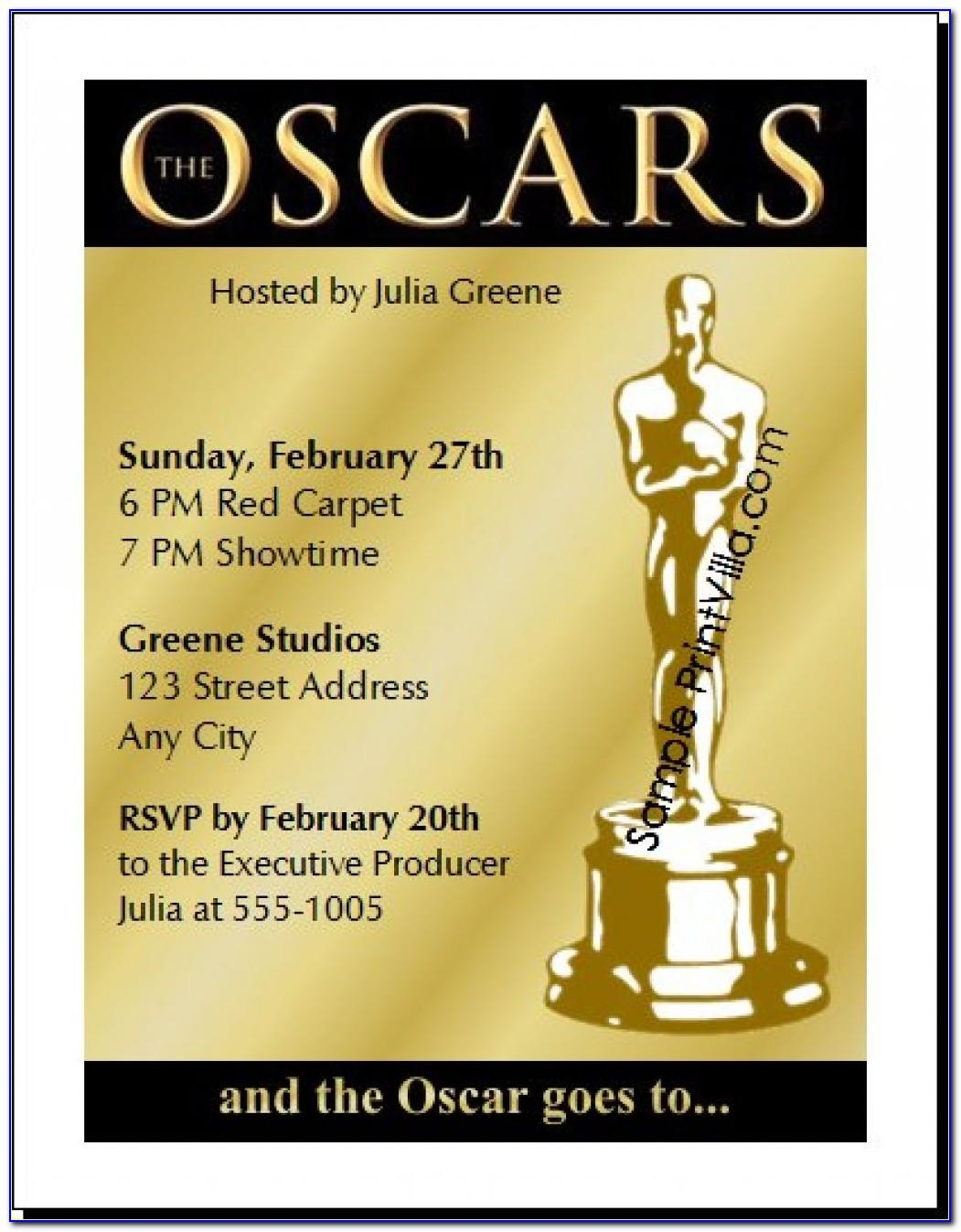 Academy Awards Invitation Template