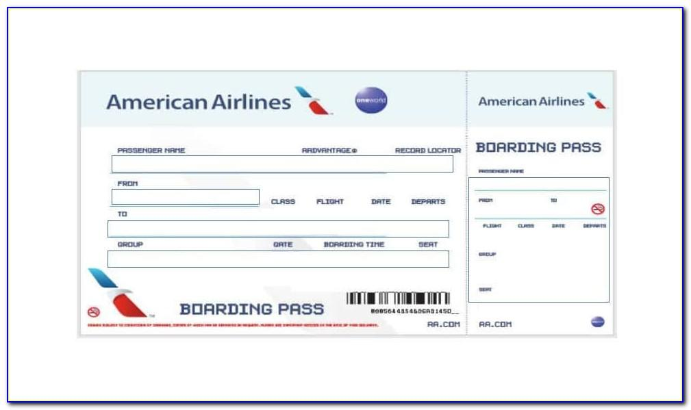 Airplane Ticket Invitation Template Free