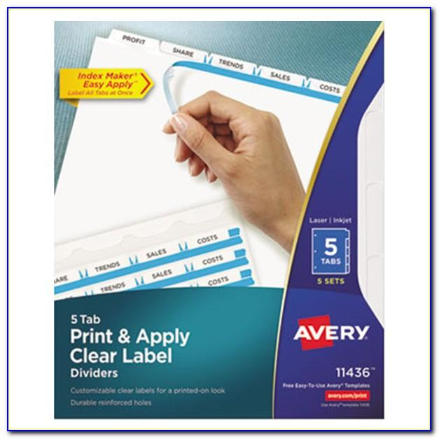 Avery 5 Tab Index Template Word