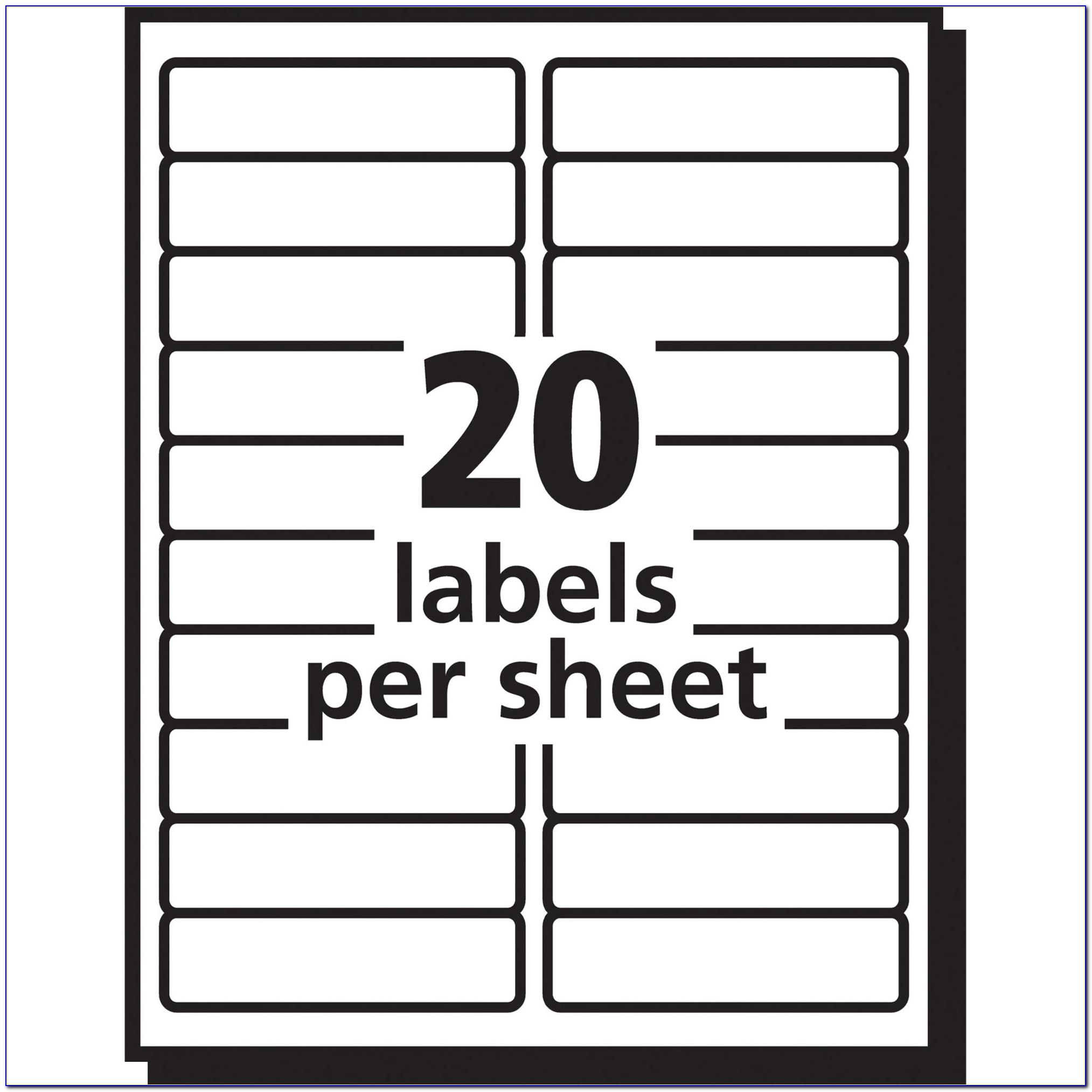 Avery 5160 Label Sheet Template