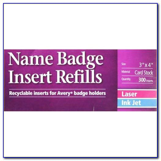 Avery 5392 Name Badge Template Word