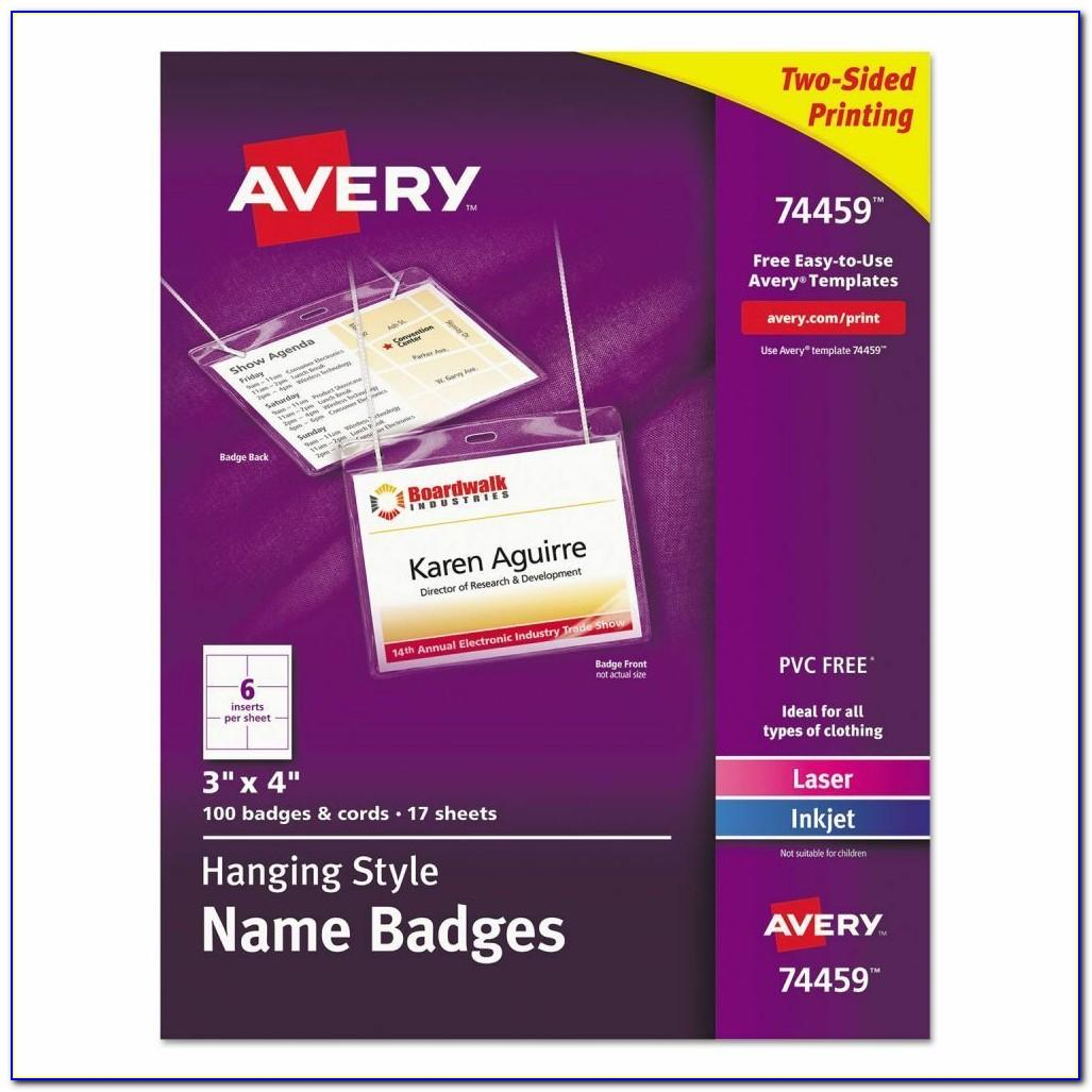 Avery Hanging Name Badges 74459 Template