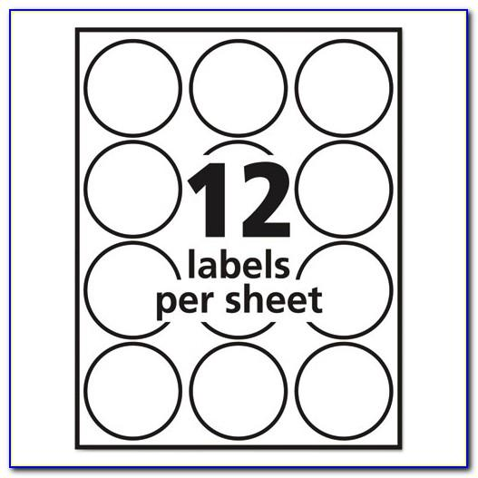 Avery Round Labels 22807 Template