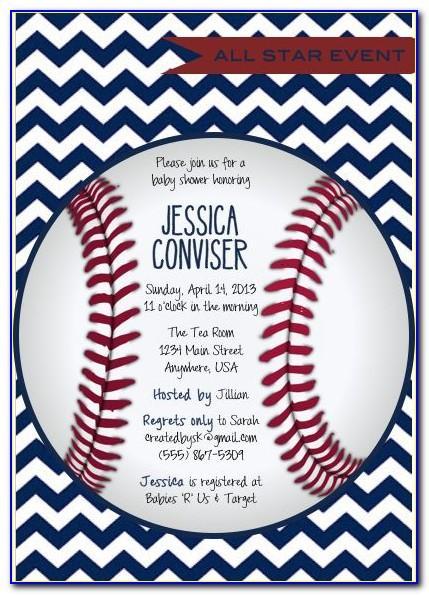 Baseball Baby Shower Invitations Templates