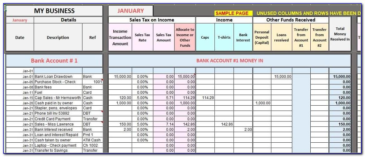 Basic Bookkeeping For Small Business Template
