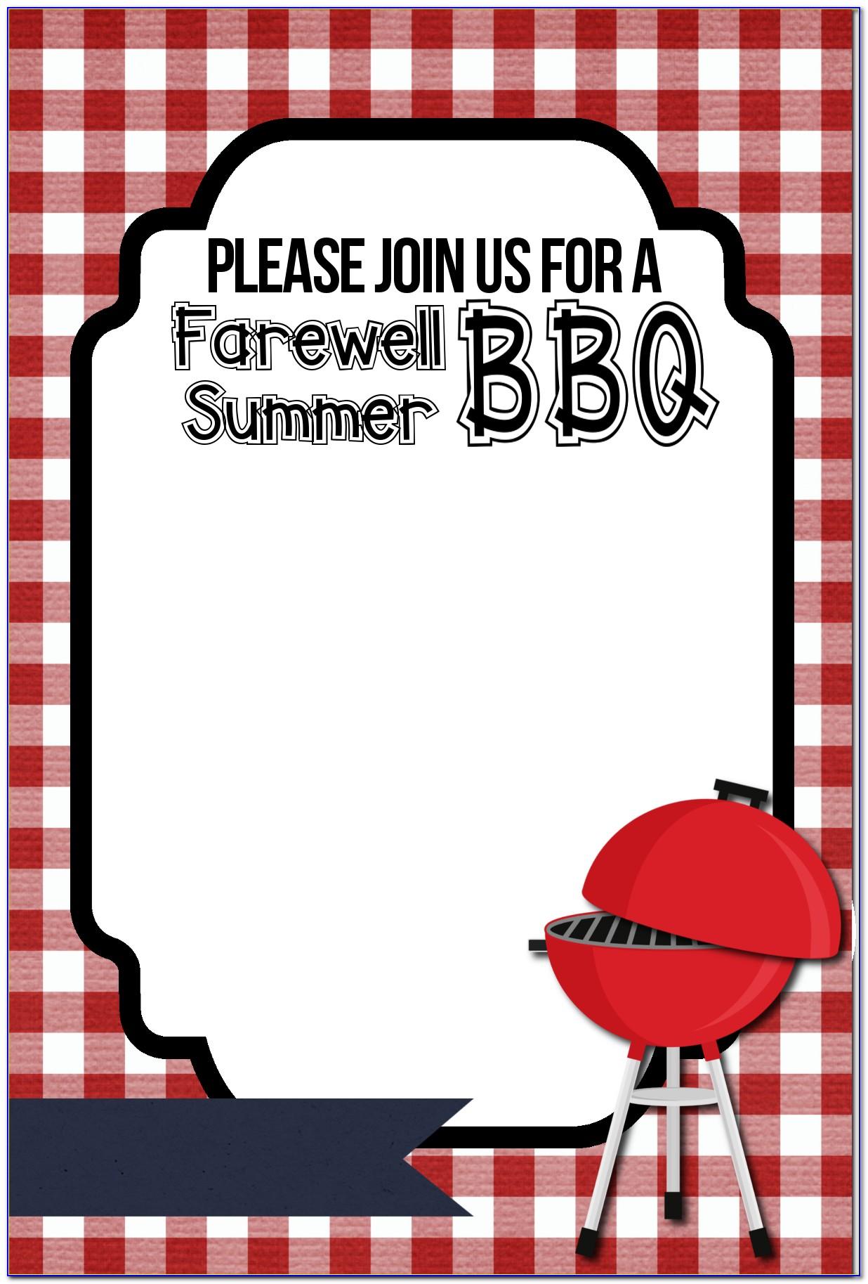 Bbq Invite Template Word Free