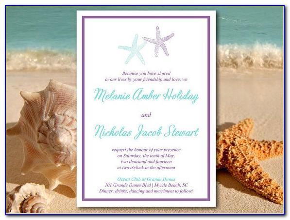 Beach Themed Wedding Invitation Templates
