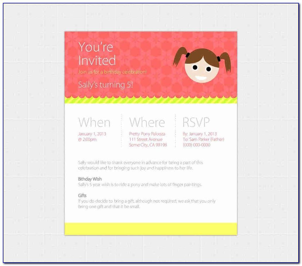 Birthday Invitation Email Templates Free