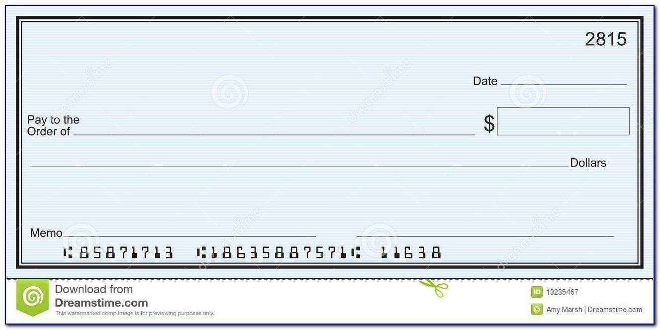 Blank Checks Template Free