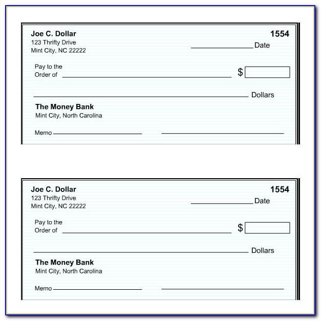 Blank Checks Template In Pdf
