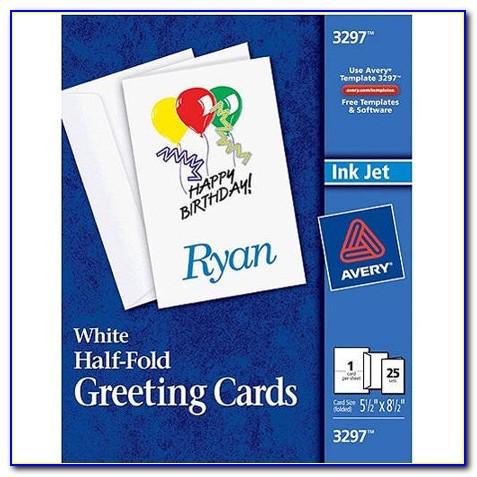 Blank Half Fold Greeting Card Template Free