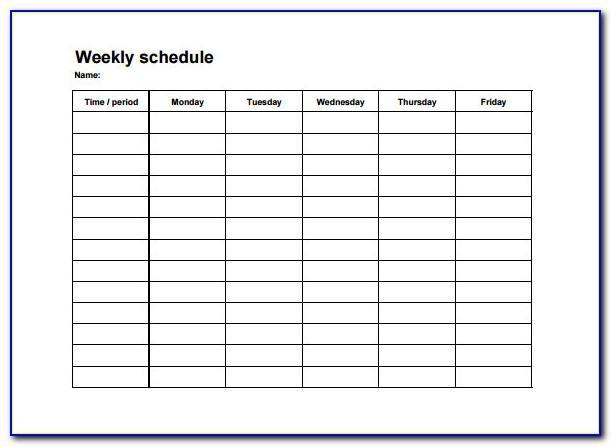 Blank Staffing Schedule Template