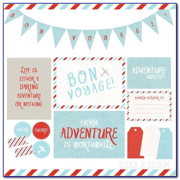 Bon Voyage Card Template Free