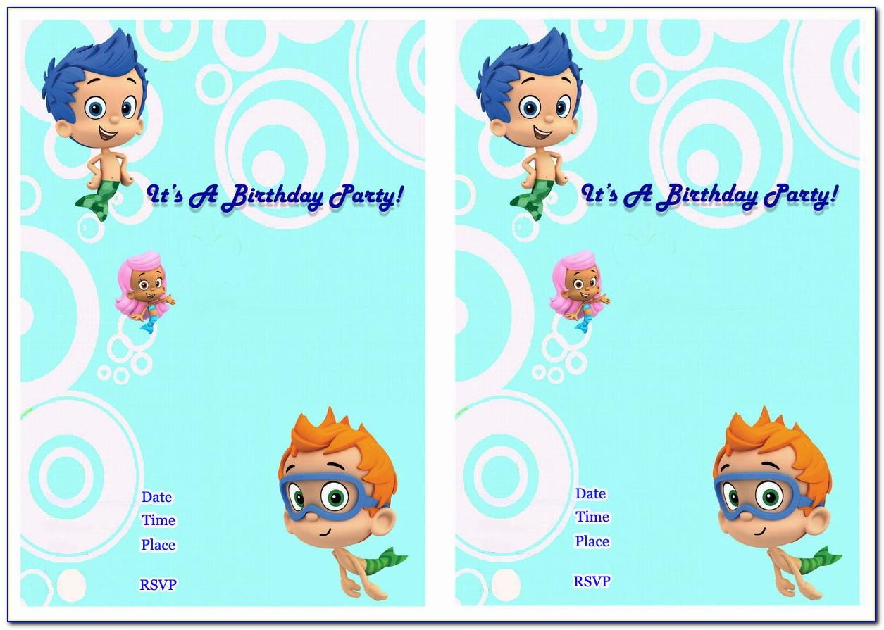 Bubble Guppies Invitations Templates Free