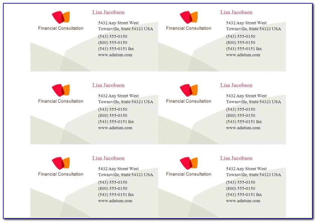 Business Card Template Avery 28878
