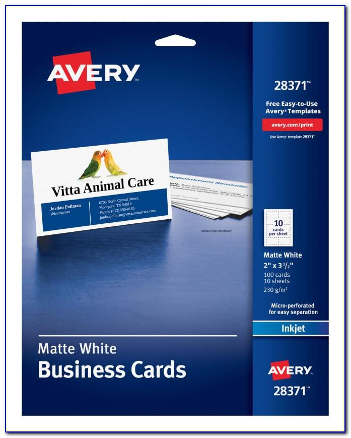 Business Card Template Avery 8376